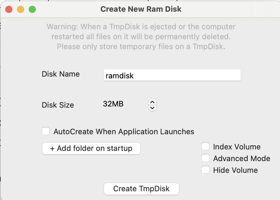 ramdisk macbook air pro m1